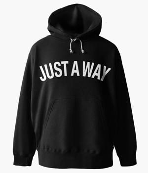 JUST A WAY BASIC HOODIE