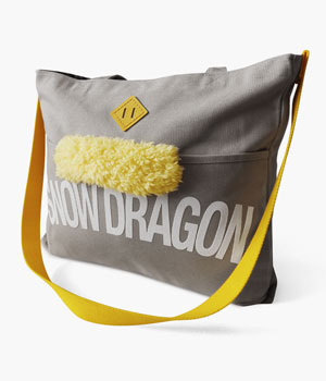 SNOW DRAGON REINS TOTE BAG