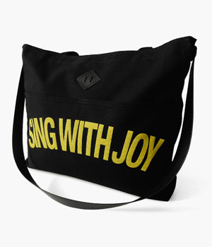 SING WITH JOY REINS TOTE BAG