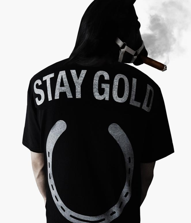 STAY GOLD HORSESHOE POCKET T-SHIRTS